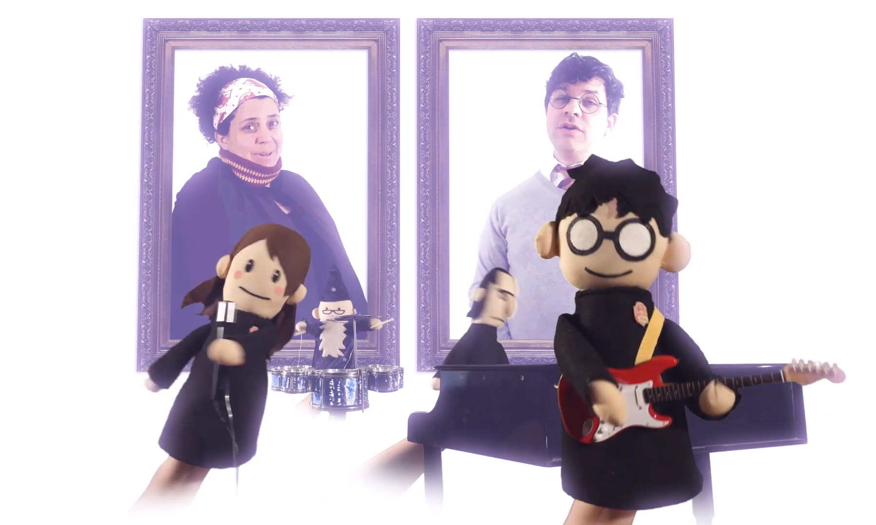Harry Potter Puppet Pals jam out with Harry and the Potters.